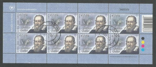Cyprus Stamps SG 2014 (d) Intellectual Pioneers 64c Galileo - Full sheet US