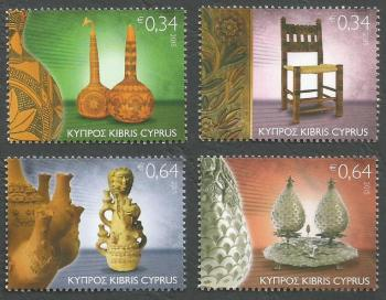 Cyprus Stamps SG 1378-81 2015 Traditional Cyprus Folk Art - MINT