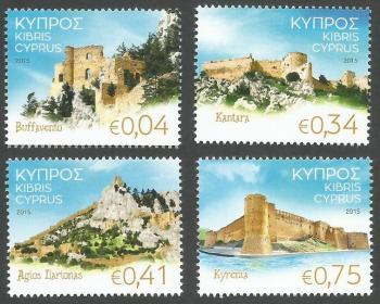 Cyprus Stamps SG 1374-77 2015 Castles of Cyprus - MINT