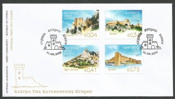 Cyprus Stamps SG 2015 (J) Castles of Cyprus - Official FDC