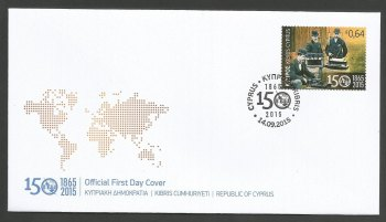 Cyprus Stamps SG 2015 (k) 150 Years of the International Telecommunications Union (ITU) - Official FDC