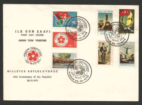 1-7 Cyprus postage stamps FDC