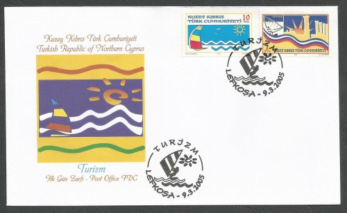 North Cyprus Stamps SG 603-04 2005 Tourism - Official FDC
