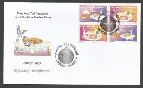 North Cyprus Stamps SG 607-08 2005 Europa Gastronomy - Official FDC