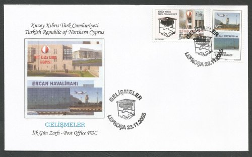 North Cyprus Stamps SG 618-19 2005 Developments - Official FDC