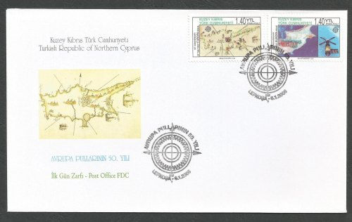 North Cyprus Stamps SG 620-21 2006 50th Anniversary of the first Europa sta