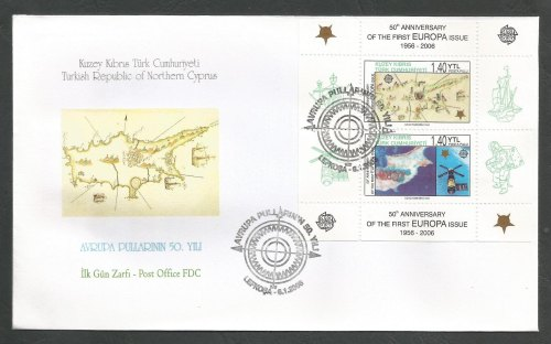 North Cyprus Stamps SG 622 MS 2006 50th Anniversary of the first Europa sta