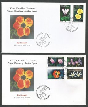 North Cyprus Stamps SG 623-28 2006 Wild Flowers - Official FDC
