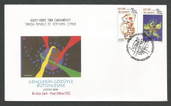 North Cyprus Stamps SG 631-32 2006 Europa Intergration - Official FDC