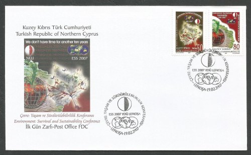 North Cyprus Stamps SG 645-46 2007 Conference on the Environment - Official