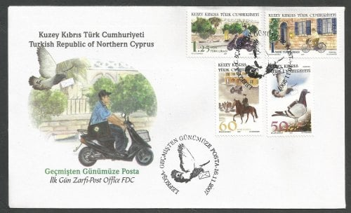 North Cyprus Stamps SG 660-63 2007 Post Office past and present - Official