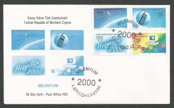 North Cyprus Stamps SG 503-06 2000 New Millennium Technology - Official FDC