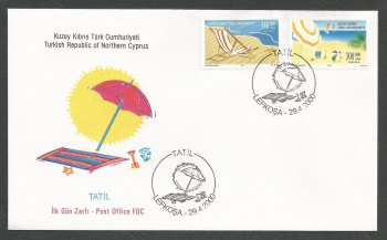 North Cyprus Stamps SG 507-08 2000 Holidays - Official FDC