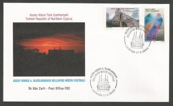 North Cyprus Stamps SG 510-11 2000 4th Bellapais music festival - Official FDC