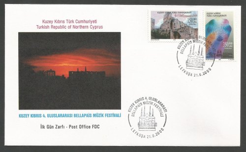 North Cyprus Stamps SG 510-11 2000 4th Bellapais music festival - Official