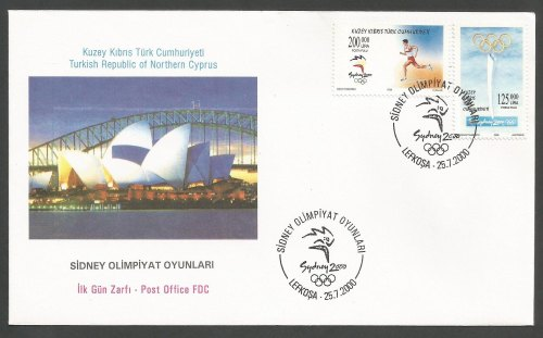 North Cyprus Stamps SG 513-14 2000 Sydney Olympic Games - Official FDC