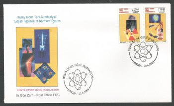 North Cyprus Stamps SG 532-33 2001 Environment day Radiation - Official FDC