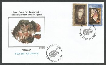 North Cyprus Stamps SG 567-68 2003 Art 14th Series - Official FDC