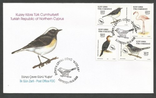 North Cyprus Stamps SG 570-73 2003 Birds - Official FDC