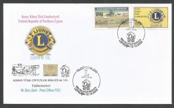 North Cyprus Stamps SG 584-85 2003 Anniversaries - Official FDC