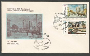 North Cyprus Stamps SG 185-86 1986 Art 5th Series - Official FDC