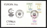 Cyprus Stamps SG 280-82 1966 Europa Ship - Unofficial FDC (a359)