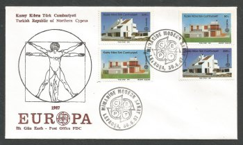 North Cyprus Stamps SG 210-11 1987 European Architecture - Official FDC