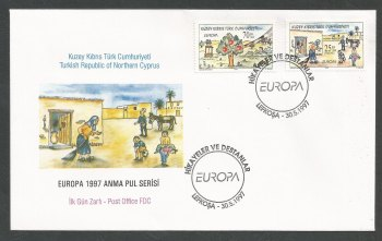 North Cyprus Stamps SG 443-44 1997 Europa Tales and legends - Official FDC
