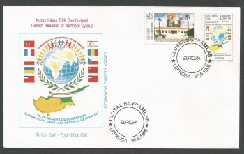 North Cyprus Stamps SG 467-68 1998 Europa Festivals - Official FDC