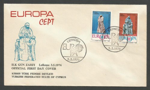 North Cyprus Stamps SG 27-28 1976 Europa Reduced price - Official FDC (k233