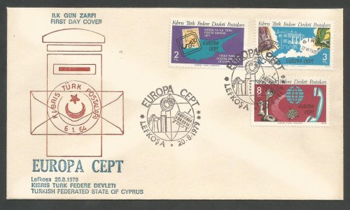 North Cyprus Stamps SG 79-81 1979 Europa Communications Reduced price - Off