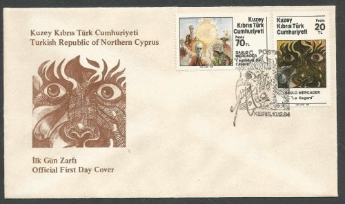 North Cyprus Stamps SG 163-64 1984 Mercader Art Paintings Reduced price - O