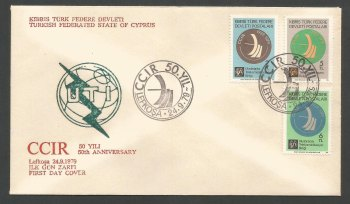 North Cyprus Stamps SG 82-84 1979 50th Anniversary of International Radio Committee - Unofficial FDC (k250)