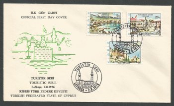North Cyprus Stamps SG 36-38 1976 New Design - Official FDC