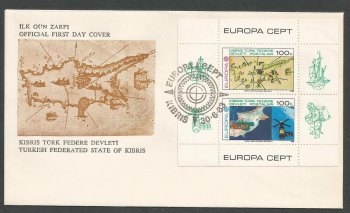 North Cyprus Stamps SG 134 MS 1983 Skylab - Official FDC