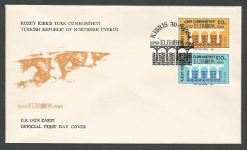 North Cyprus Stamps SG 148-49 1984 Europa Bridge - Official FDC