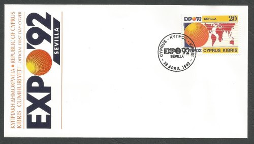Cyprus Stamps SG 815 1992 EXPO 1992 Seville Spain - Official FDC