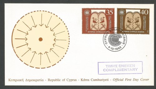 Cyprus Stamps SG 841-42 1993 Commonwealth Conference Marked complementary -