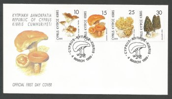 Cyprus Stamps SG 965-68 1999 Mushrooms - Official FDC