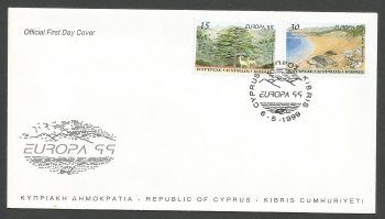 Cyprus Stamps SG 969-70 1999 Europa Parks and Gardens - Official FDC