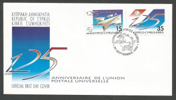 Cyprus Stamps SG 976-77 1999 UPU - Official FDC