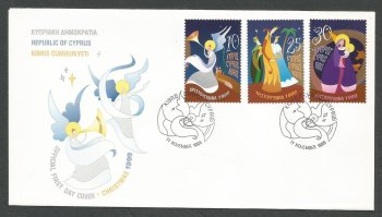 Cyprus Stamps SG 980-82 1999 Christmas - Official FDC
