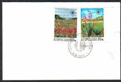 Unofficial Cover Cyprus Stamps 1970 Flowers - Unofficial FDC (c473)