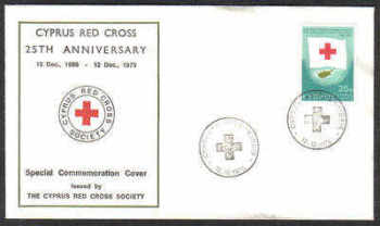 Unofficial Cover Cyprus Stamps 1975 Silver Jubilee of the Cyprus Red Cross - Cachet (c470)