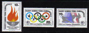 North Cyprus Stamps SG 150-52 1984 Los Angeles Olympic Games - MINT