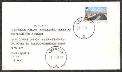 North Cyprus Stamps 1979 Telecommunications Cachet - Unofficial Cover (c486