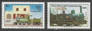 North Cyprus Stamps SG 202-03 1986 Cyprus Narrow Gauge Railway - MINT