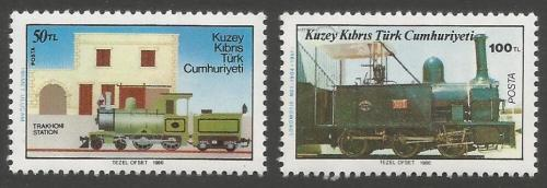 North Cyprus Stamps SG 202-03 1986 Cyprus Narrow Guage Raillway - MINT