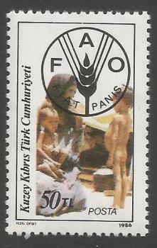 North Cyprus Stamps SG 194 1986 50TL - MINT
