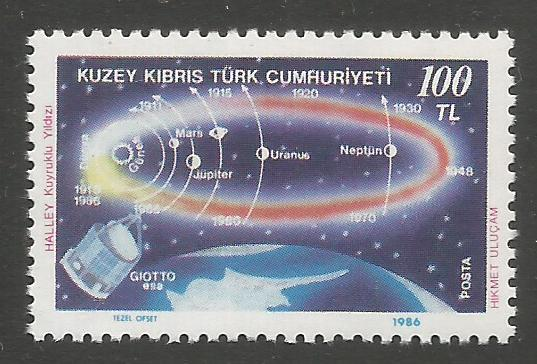 North Cyprus Stamps SG 196 1986 1000TL - MINT